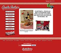 Auntie Pastos restaurant website design company